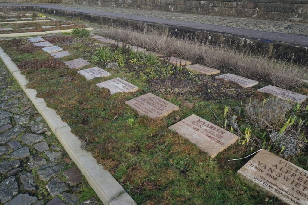 Graves of members of the Dutch resistance, executed in the dunes of Bloemendaal.