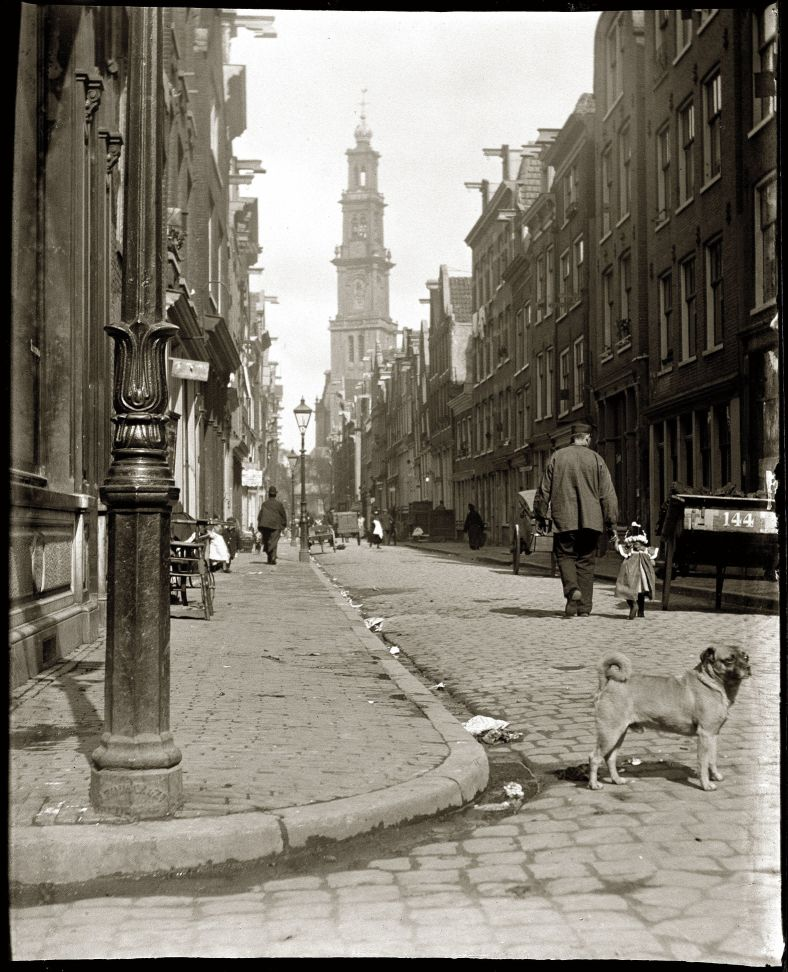 photo of the Bloemstraat in Amsterdam, 1902
