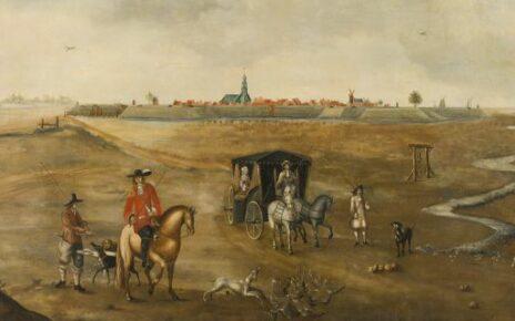 View of IJzendijke in the 18th century.