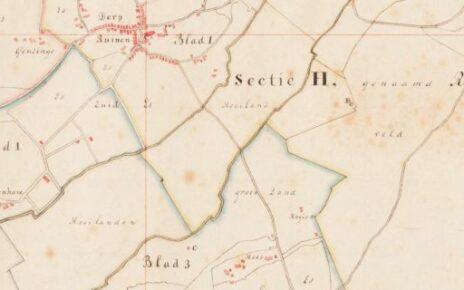 Cadastral map of Ruinen.