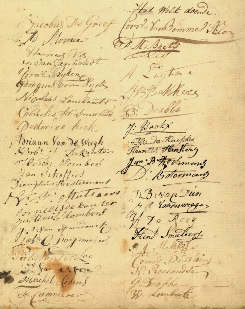 petition with signatures of inhabitants of Tilburg, 1801