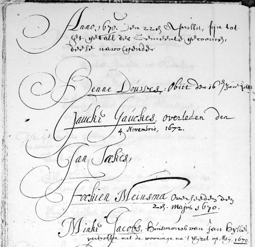 church membership list with Gaucke Gauckes in Buitenpost, Friesland