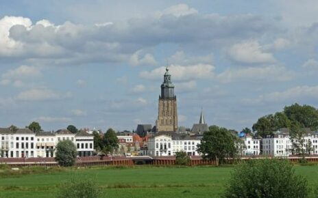 View of the city of Zutphen, province of Gelderland, located on the IJssel. The city was once member of the Hanseatic League.